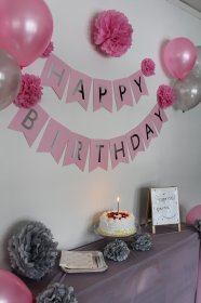 birthday decorations silver party pink happy teen cheap 1st supplies banner balloons deals