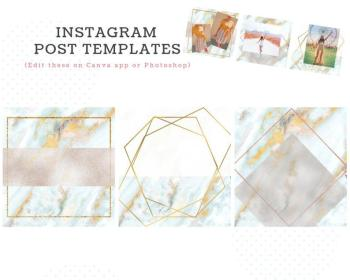 instagram marble covers highlight story gold touch