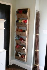 storage shoe diy wall spaces shoes garage clever mount cool bin simple