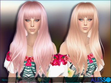The Sims Resource: Hero Hairstyle by Alesso ~ Sims 4 Hairs