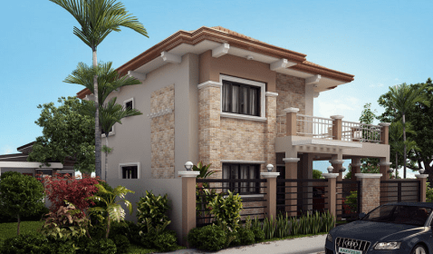 corner modern storey contemporary bedroom story floor plans four plan designs exterior houses ground residence homes pinoyhouseplans facades pinoy area