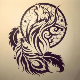 wolf tattoo designs tribal tattoos lone traditional styleswardrobe powerful courage strength attack stand ready lot