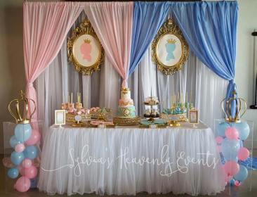 reveal gender party royal decorations baby themes princess idea prince adorable parties balloons disney babyshower cute stayglam crazyforus revel games