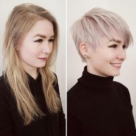 pixie short hair haircuts long before haircut smart hairstyles hairstyle cute very fine blonde makeovers cut cuts thin stories makeover