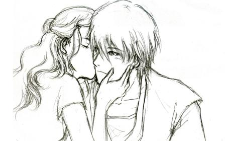 sketch couple anime drawing boy sketches easy pencil girlfriend boyfriend drawings romantic sad wallpapers friendship doll 3d hugging hug paintingvalley