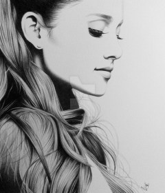sketch pencil face drawings drawing sketches grande barbie ever easy ariana paintingvalley beauty penci drawingartpedia
