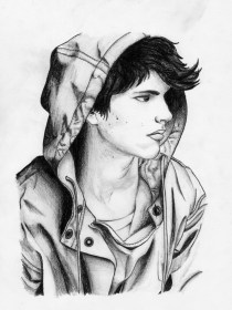 boy pencil sketch drawing sketches handsome boys paintingvalley