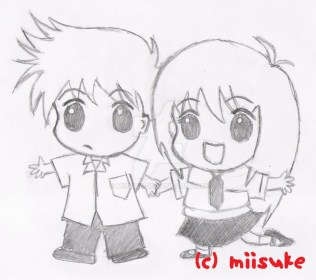 boy drawing friends sketch boys holding chibi hands drawings sketches easy pencil hugging draw anime paintingvalley getdrawings para manga freunde