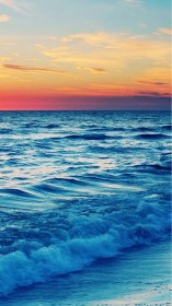 phone hd wallpapers iphone beach sunset sea nature wiki landscape plus pic pretty wave backgrounds background cute waves ocean pixelstalk