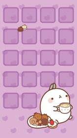 kawaii iphone wallpapers cute purple screen cool halloween girly background lock wiki phone backgrounds para molang 귀여운 zone organizar pixelstalk