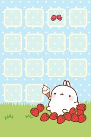 kawaii iphone summer wallpapers cute screen lock molang pixelstalk