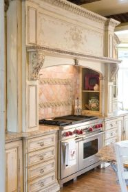 country french kitchens kitchen range hood cabinets distressed hoods stove cabinet wood island ultimate shout enchanted vent giveaway interior major