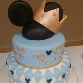 mickey mouse baby prince shower cake cakes minnie party showers pastel 1st royal instagram boy