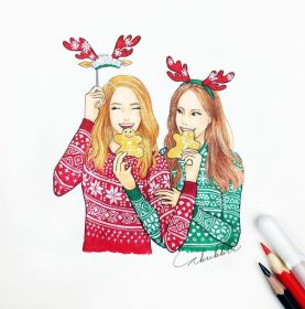 drawing friends christmas bff drawings friend forever draw bestfriends easy sketches sketch friendship person illustration crazy pretty disegni realistic di
