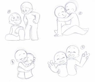 drawing poses reference couple chibi friends leniproduction base drawings ych deviantart friend references ychs closed single manga pose sketch character
