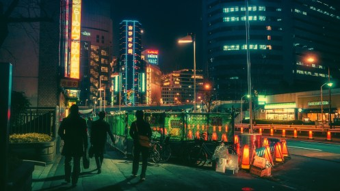 Japanese, Tokyo, Neon light, Bicycle Wallpapers HD