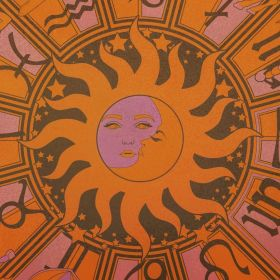 aesthetic hippie 70s orange psychedelic sun retro collage wallpapers moon spiritual trippy 80s luna bedroom pink backgrounds beat ymw melly