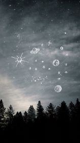 night aesthetic space grunge wallpapers backgrounds sternenhimmel wallpaperaccess forest bilder sky prince besuchen doodles