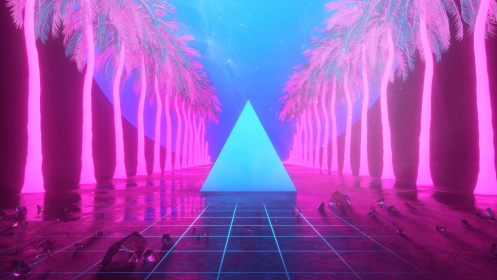 aesthetic pink electro miami wallpapers beeple outrun backgrounds wallpaperaccess person