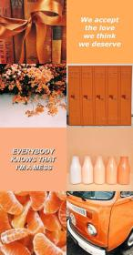 aesthetic orange pastel collage wallpapers laptop backgrounds cute peach background phone trendy colors uploaded user