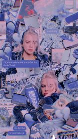 billie eilish aesthetic wallpapers lockscreen collage billieeilish background requested hope cute app pastel iphone ellish purple backgrounds overlays cave insta