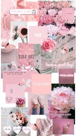 aesthetic wallpapers collage peach colour cave wallpapercave