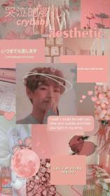 aesthetic taehyung wallpapers bts collage pink kpop folder cute backgrounds pastel parede papel cel jungkook amino br shared army wattpad