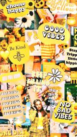 aesthetic vsco wallpapers yellow collage iphone egirl backgrounds fondos pastel 90s computer retro stickers pantalla parede papel achtergronden quotes sfondi