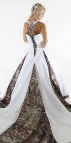 camo dresses formal bride thinking gown ball outside modern box