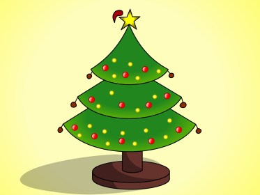 christmas tree drawing draw trees xmas coloring wikihow merry easy step simple things cartoon ornaments pattern getdrawings painting six