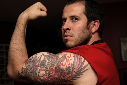 bicep tattoos tattoo male biceps left designs meaning flickr dragon