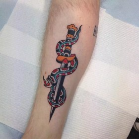 snake tattoo dagger tattoos designs drawing forearm traditional eagle meaning healing tribal types than creative tatto colorful gorgeous looks female