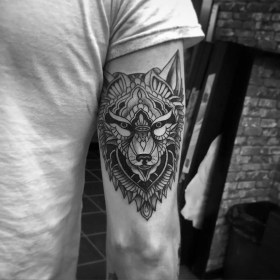 wolf tattoo designs lone tribal geometric tatoos meanings awesome woolf tatuajes hombres para puppy journal