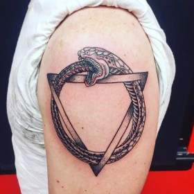 ouroboros tattoo around tattoos designs goes comes circle ancient triangle meaning tats inside mythical source yourself rings