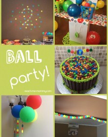 year birthday ball themed boy teach cake mommy parties theme two boys themes gift toddler easy activity included balls birthdays