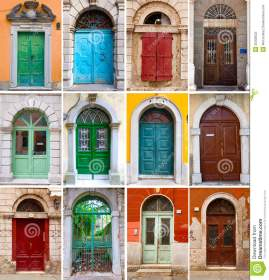 colourful front doors to houses 25305622