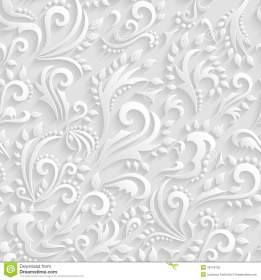 Vector Floral Victorian Seamless Background Origami 3d