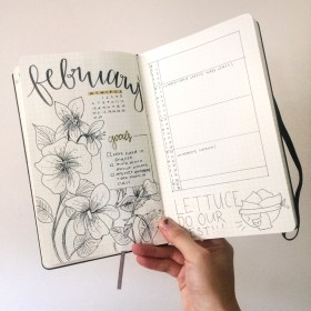 spread monthly bullet journal thefab20s inspiration