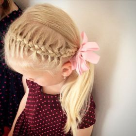 hairstyles ponytail toddler braided hairstyle haircuts braid side therighthairstyles braids adorable child toddlers short thin trenzas ninas bonitas cheveux simple
