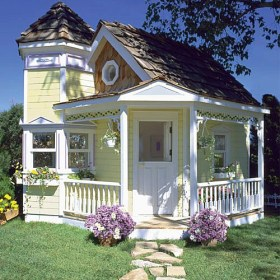 cottage tiny interior including cottages playhouse victorian houses inside very porch mini playhouses sweet cabins dog shed exterior mansion turret