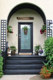 porch decorating patio porches idea simple embellishments makeover decorate dressup wonderful trendy entry homeandcraft really few plants richard