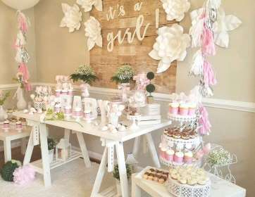 shower decorations centerpieces chic shabby table showers catchmyparty themes backdrop parties tulamama tables fiesta boy dessert
