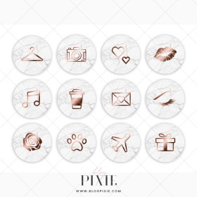 story marble icons rose highlight icon nails highlights stories template clock vectorified blogpixie