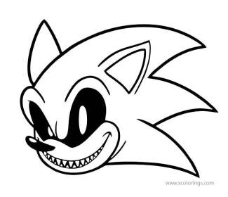 Free Printable Sonic Exe Coloring Pages Novocom Top
