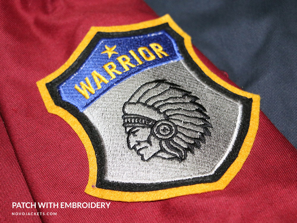 Embroidery Patch Warrior Example Custom Jackets