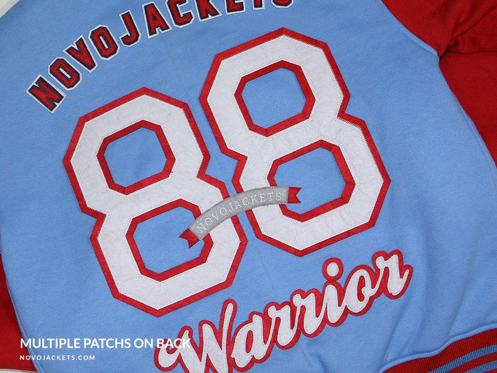 Numbers on Back of Custom Letterman Jackets
