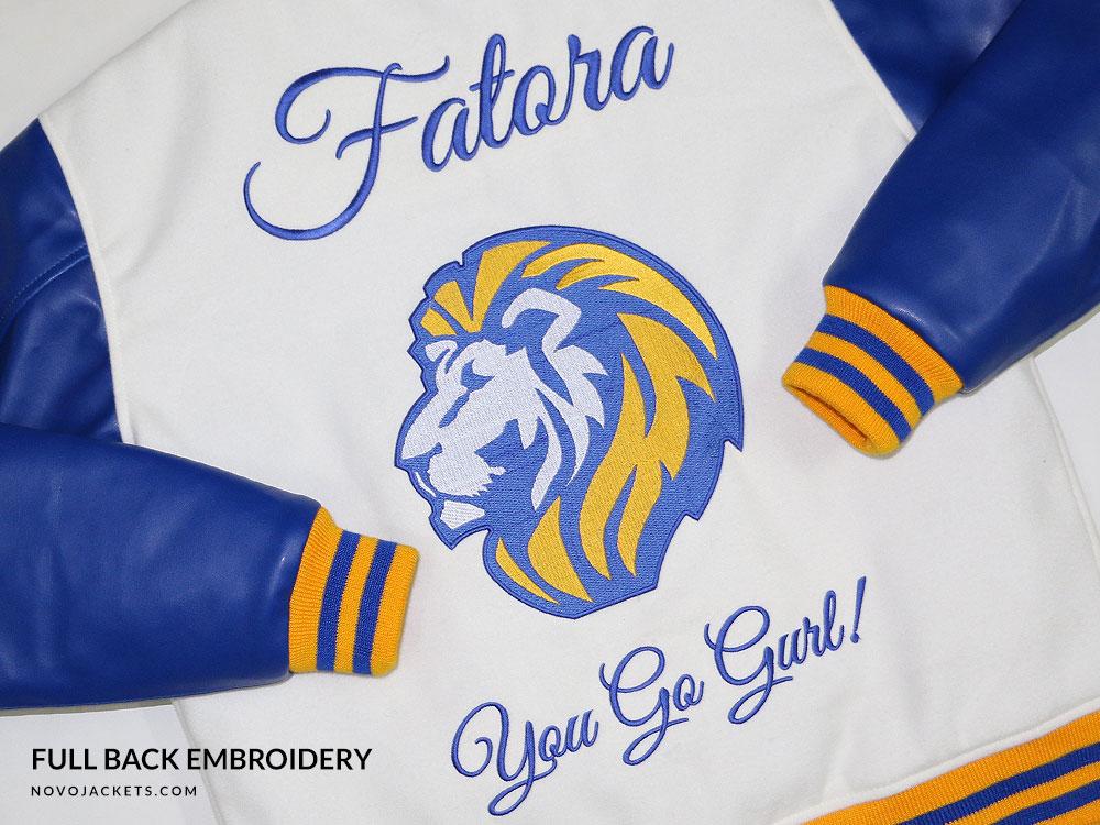 Lion Head Wolf Head Embroidery Custom Varsity Jackets Letterman Jackets