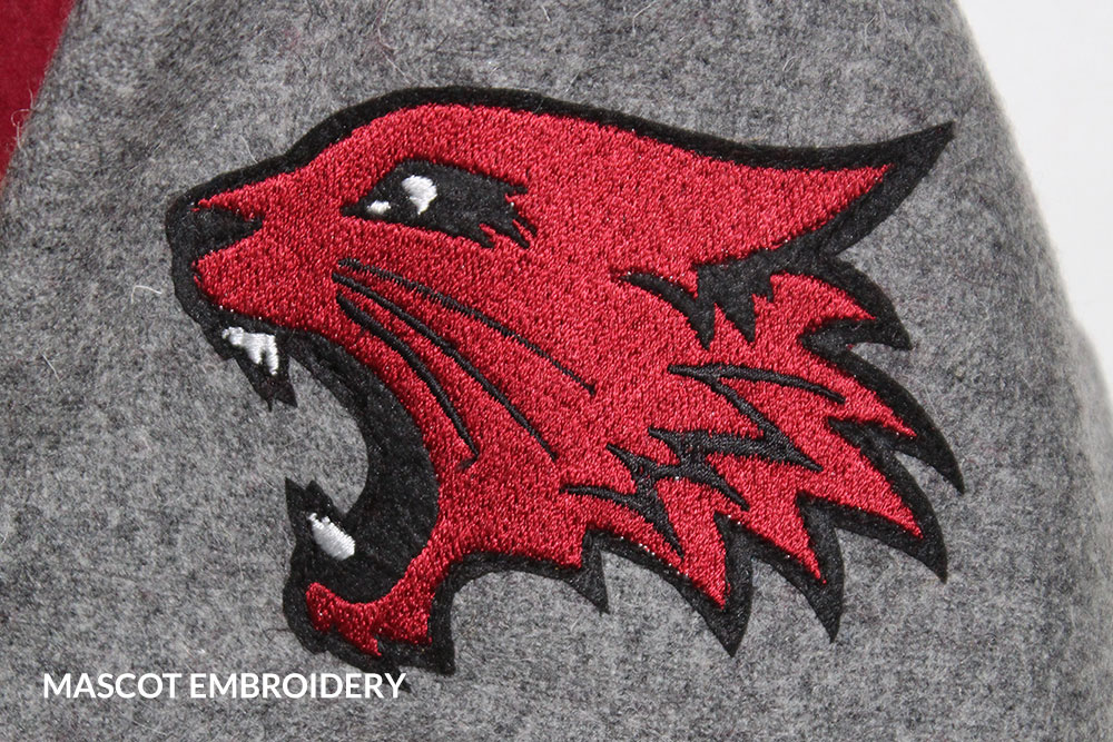 Mascot Embroidery Custom Letterman Jackets