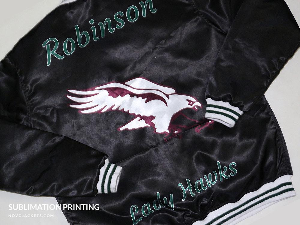 Sublimation Black Jacket Lady Hawks Custom Jackets
