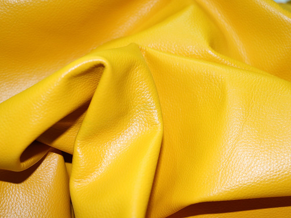 Gold Cowhide Leather